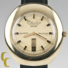 Lucien Piccard 14k Yellow Gold Automatique 36000 Da Vinci Men's Watch Day/Date