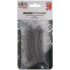 Kato Compact 20-176 Rail Courbe / Curve Track R117mm 45° 4 pcs - N