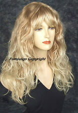 Long Loose Wavy Wig In Multi-Blonde / 100% Japanese Fibre Brilliant Quality