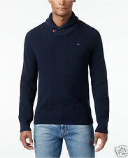Tommy Hilfiger Men's Harrington Shawl-Collar Sweater Size XS Navy NWT