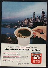 1950s advert for MAXWELL HOUSE instant coffee America's fave advertising 1959