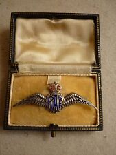 WORLD WAR TWO ROYAL AIR FORCE RAF WINGS SILVER SWEETHEART BROOCH BOXED TLM