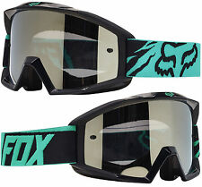 2017 FOX MAIN MOTOCROSS MX GOGGLES GREEN BLACK SPARK MIRROR tear-off enduro mtb