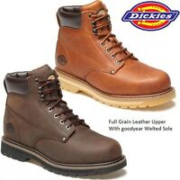 MENS DICKIES WELTON LEATHER NON-SAFETY BOOTS ANKLE WALKING HIKING SHOES WORK SZ