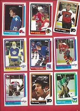 1986-87 Topps Hockey you pick 10 picks $2.00 NM to Mint