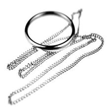 Magic Ring and Chain Cool Magic Trick Props Metal Knot Ring On Chain New