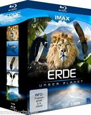 BLU-RAY  - SEEN ON IMAX - ERDE - UNSER PLANET - 5 DISC EDITION    - NEU/OVP