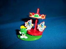 M&Ms MERRY-GO-ROUND Carousel Green Figure CARNIVAL FAIR RIDE Pocket Surprise M&M