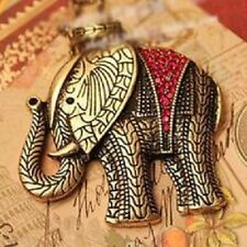 Stunning Brand New Red Elephant Pendant Necklace (N083)