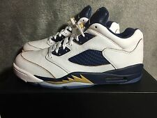 NEW AIR JORDAN 5 RETRO LOW DUNK FROM ABOVE GOLD NAVY SHOES (819171 135) SZ 10