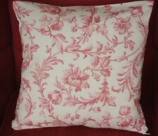 Laura Ashley Ironwork Scroll Fabric Cushion Cover Cranberry Red Reversible