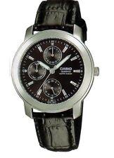 Casio MTP-1192E-1A Men Watch Leather Quartz with Black Dial
