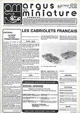 revue automobile: Argus de la Miniature. N°44 Avril 1982