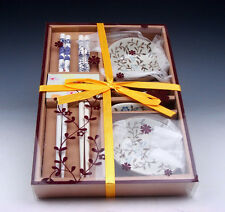 Gift Set Chinese Dining Ware Chopsticks & Holders & Saucers BRAND NEW #01071604