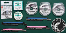 3 spools 10 ft Tenkara Furled Leaders, 2mm MIcro Tippet Rings, 6X Tippet set