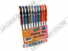 TOP QUALITY - KIT PENNE GEL GLITTER - 10 COLORI ASSORTITI