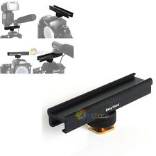 "4"" Flash Bracket Hot / Cold Shoe Extension Rail For Canon Nikon DSLR Camera"