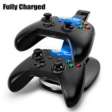 Dual USB Charger LED Station Dock Fast Charging Stand For Xbox One Controller US