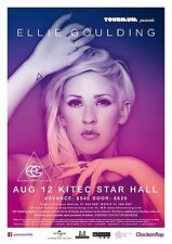 ELLIE GOULDING 2016 HONG KONG CONCERT TOUR POSTER - Indie/Synth Pop Music