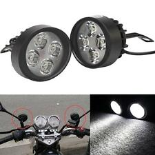 universel 15W 4 LED Moto Head Lamp Phare Lampe Spot Lumière