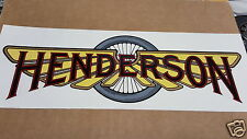 Henderson Motorcycle Tank label decal set of two Pressure Sensative 1914 + or -