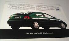 1995 ? FORD LASER LYNX 1.6 GTI HATCH   Malaysia  Sales Leaflet VERY RARE