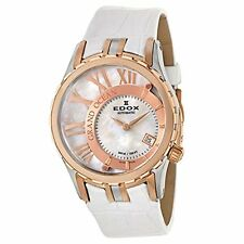 Edox Women's 37008 357R-NAIR Grand Ocean Swiss AUTOMATIC Date White Band Watch