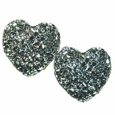 Romantic Glitter Heart Earrings Made in USA Surgical Stainless Steel Posts K5D