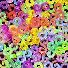 100Pcs Colourful S-Clips For Loom Kit Rubber Bands Bracelet Kids Making DIY