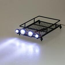 Austar Roof Luggage Rack with LED Light Bar for 1/10 1/8 RC Cars Crawler R4L4