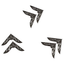 3 Pairs Silver Pattern Shirt Blouse Pointed Collar Clips Metal Wing Tips T1