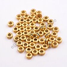 100Pcs Tibetan Silver/Gold/Bronze Rings Spacer Beads Jewelry Findings 6MM CA3037