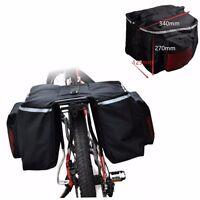 Waterproof Bike Bicycle Cycling Rear Seat Storage Bag Rack Pack Double Pannier