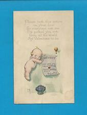 KEWPIE PROCLAMATION, A/S ROSE O'NEILL Authentic Vintage 1924 VALENTINE Postcard