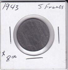 1943 Belgum 5 Francs coin
