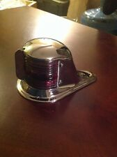 Small Stamped Brass Boat Bow Light Glass Lens Rechromed Dec. 13