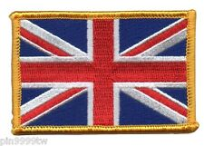 BRITISH FLAG EMBROIDERED PATCH UNION JACK ENGLAND UK GREAT BRITAIN IRON-ON