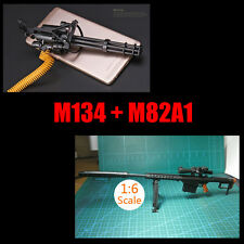"1:6 1/6 Scale Assemble Gun Weapon M134+M82A1 Fit 12"" Action Figures"