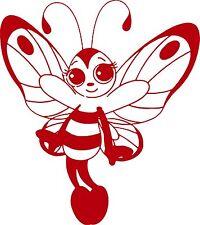 Butterfly Bee Girl Faerie Fairy Car Truck Window Laptop Vinyl Decal Sticker