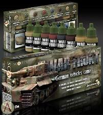 Scale 75 War Front German WW2 Vehicles Camo Acrylic Paint Set 8 Bottles