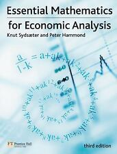 Essential Mathematics for Economic Analysis (3rd Edition), Hammond, Peter, Sydsa