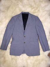 J.CREW $358 CROSBY SUIT JACKET ITALIAN COTTON OXFORD CLOTH 38R RUSTIC BLUE C4868