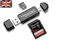 Micro Usb Host OTG Adapter SD Micro SD SDXC TF Flash Memory Card Reader