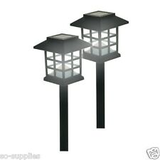 12 X ORIENTAL SOLAR POWER POWERED LIGHT POST LED OUTDOOR GARDEN LIGHTING LANTERN