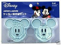 Disney Mickey Mouse Cookie cutter MOLD Stamp mould set Kitchen ladies Minnie kit