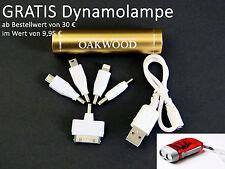 OAKWOOD PowerBank AKKU Handycharger mobiles Laden -Gold - INKL. 5 Adapterstecker