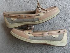 """SPERRY TOP-SIDER"" BROWN LEATHER DECK SHOES WOMEN 12M (GREAT)"