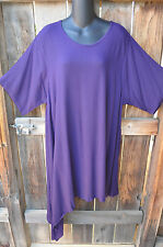 ART TO WEAR LAGENLOOK 707 TUNIC IN SOLID PORT PURPLE BY MISSION CANYON, OS!