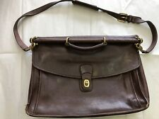 Vintage COACH Brown Leather Briefcase, Messenger Bag w/Strap J7C-5266