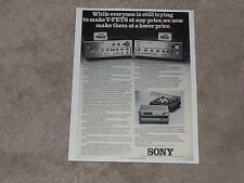 Sony VFET Amplifier Ad 1975, TA-4650, TA-8650 Article, 1 page, ready to frame